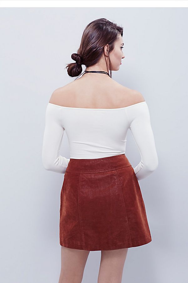 New-Free-People-Womens-Seamless-Long-Sleeve-Off-The-Shoulder-Solid-Top-38 thumbnail 5
