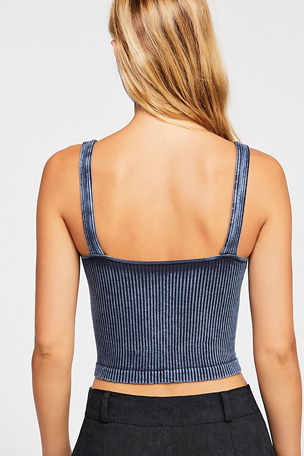 New-Free-People-Intimates-Womens-Ribbed-Washed-Seamless-Crop-Tank-Top-Cami-38 thumbnail 3