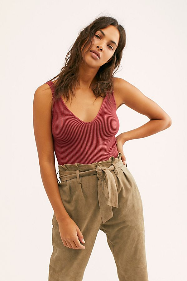 New-Free-People-Intimates-Womens-Ribbed-Washed-Seamless-Crop-Tank-Top-Cami-38 thumbnail 18