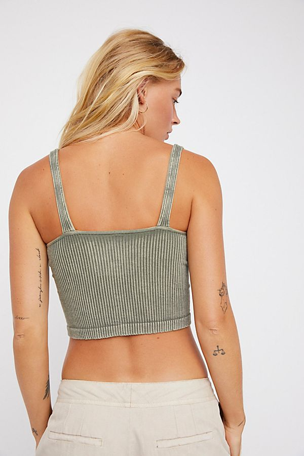 New-Free-People-Intimates-Womens-Ribbed-Washed-Seamless-Crop-Tank-Top-Cami-38 thumbnail 8