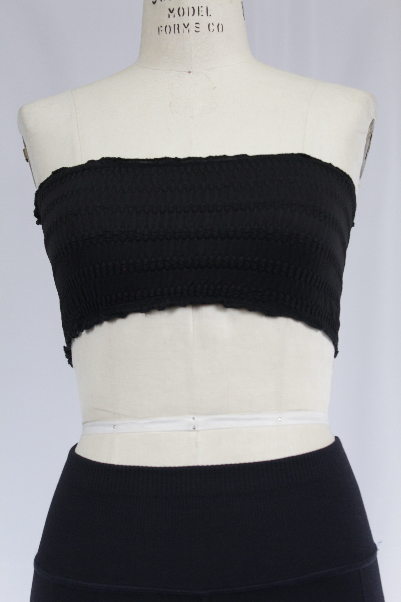 Details about  /New Free People Womens Seamless Stretchy Textured Strapless Black Bandeau Bra