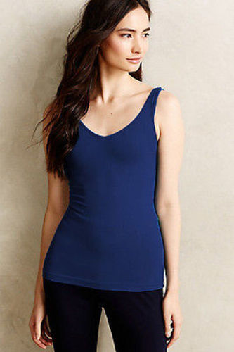 New-Anthropologie-By-Eloise-Blue-Seamless-Reversible-Tank-Top-V-Neck-Cami-24 thumbnail 2