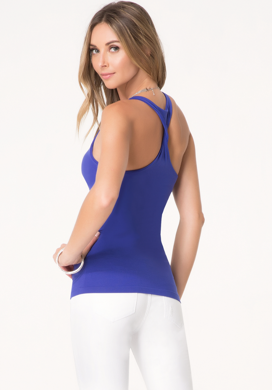 New-Bebe-Womens-The-New-Racerback-Tank-Top-Seamless-Knot-Racerback-Cami-Xs-L-24 thumbnail 19