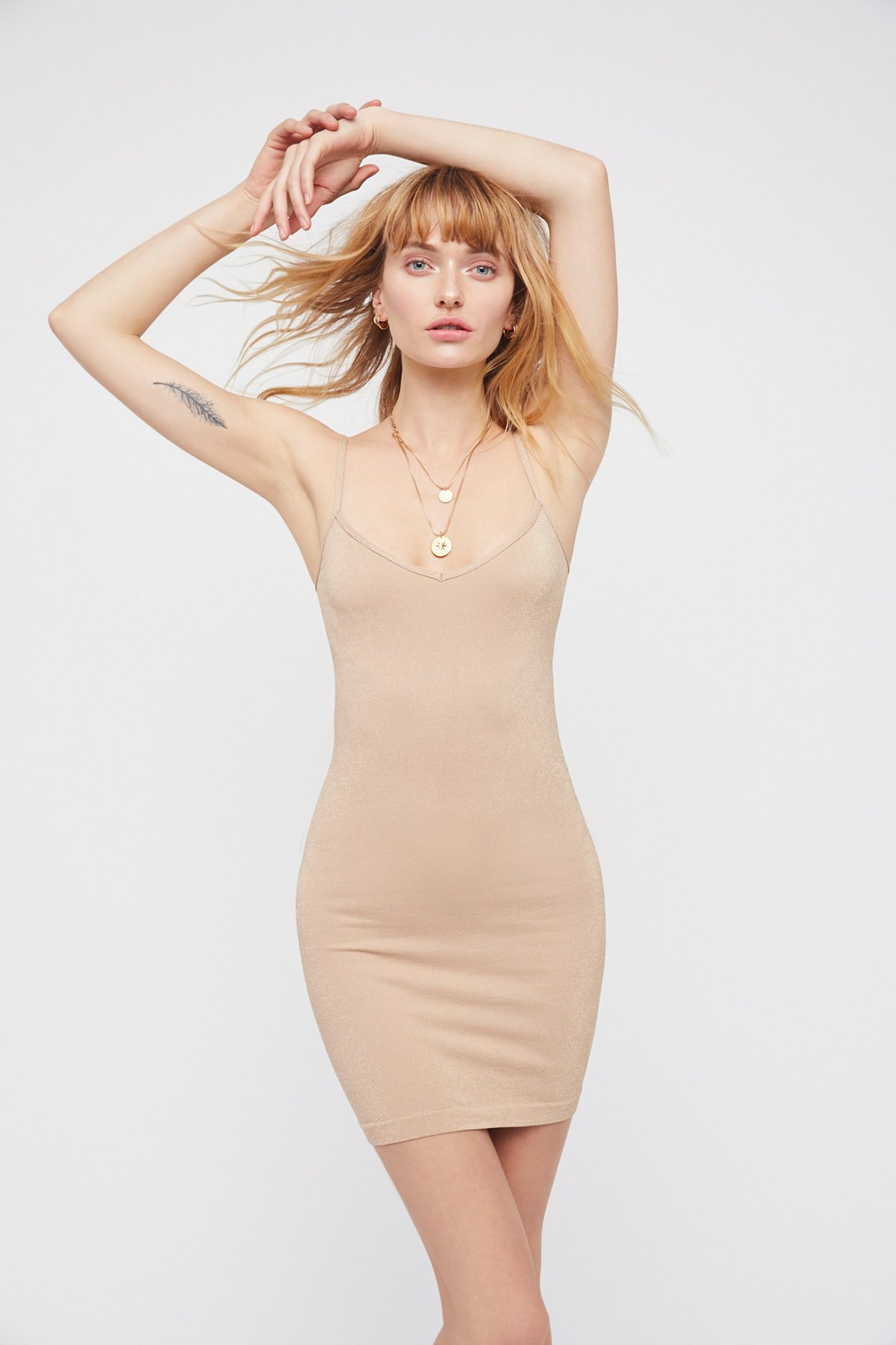 New-Free-People-Intimately-Seamless-Mini-Slip-Bodycon-Dress-Womens-Xs-L-30 thumbnail 7
