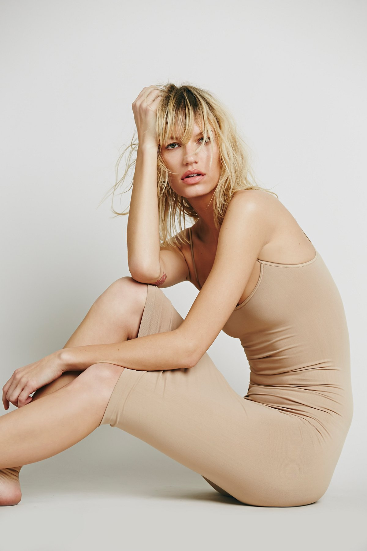 Free-People-Intimately-New-Womens-Tea-Length-Seamless-Slip-Dress-Womens-Xs-L-34 thumbnail 5