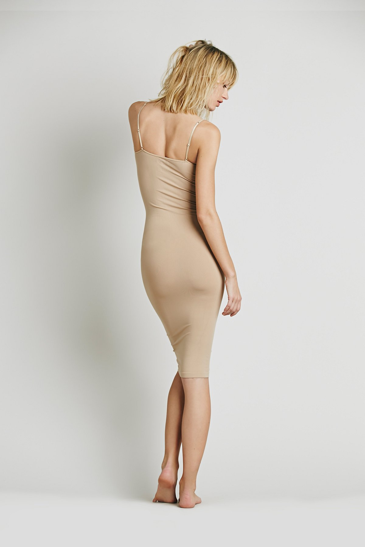 Free-People-Intimately-New-Womens-Tea-Length-Seamless-Slip-Dress-Womens-Xs-L-34 thumbnail 3