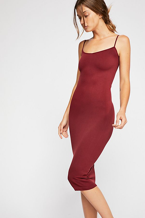 Free-People-Intimately-New-Womens-Tea-Length-Seamless-Slip-Dress-Womens-Xs-L-34 thumbnail 15