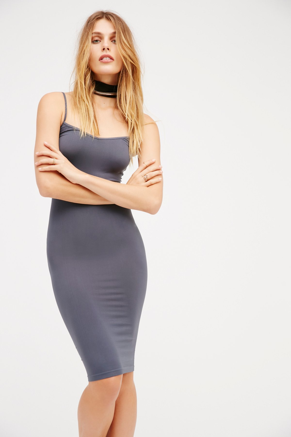 Free-People-Intimately-New-Womens-Tea-Length-Seamless-Slip-Dress-Womens-Xs-L-34 thumbnail 12