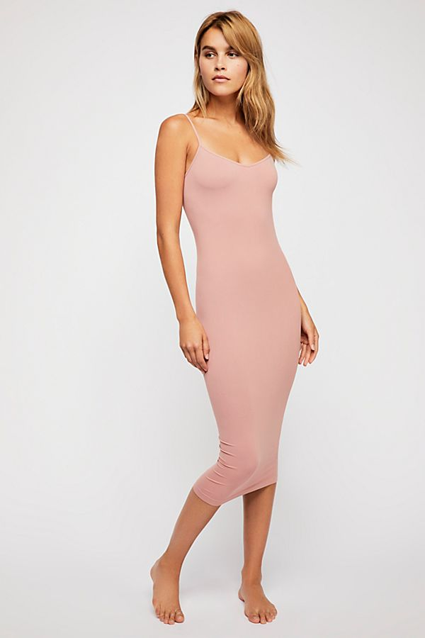 Free-People-Intimately-New-Womens-Tea-Length-Seamless-Slip-Dress-Womens-Xs-L-34 thumbnail 25