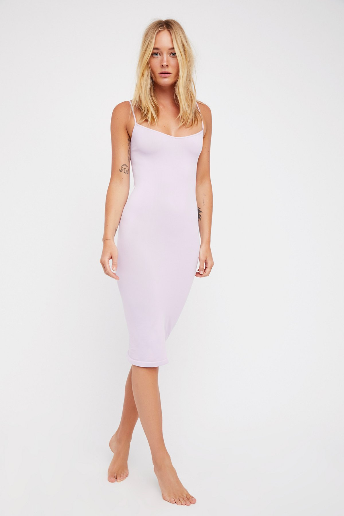 Free-People-Intimately-New-Womens-Tea-Length-Seamless-Slip-Dress-Womens-Xs-L-34 thumbnail 8