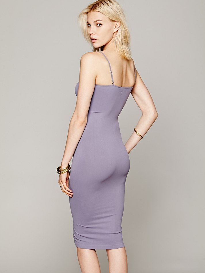 Free-People-Intimately-New-Womens-Tea-Length-Seamless-Slip-Dress-Womens-Xs-L-34 thumbnail 18