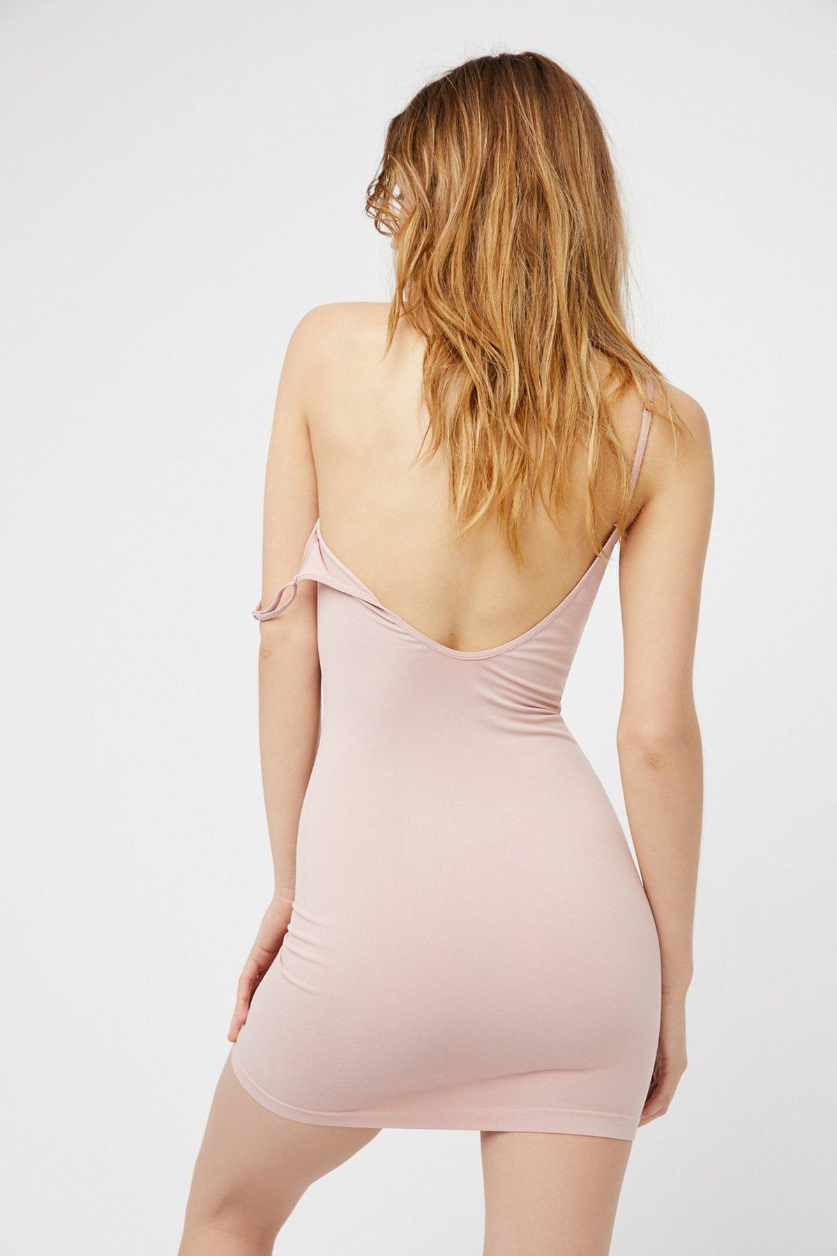 New-Free-People-Womens-Seamless-Low-Back-Bodycon-Mini-Slip-Dress-Xs-L-30 thumbnail 4
