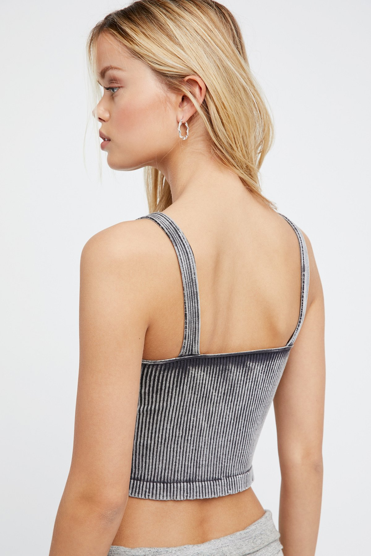 New-Free-People-Intimately-Washed-Seamless-Crop-Top-Ribbed-Cami-Multicolors-38 thumbnail 3
