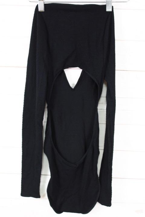 New Free People Intimately Womens Seamless Long Sleeve V-Neck Bodysuit $48