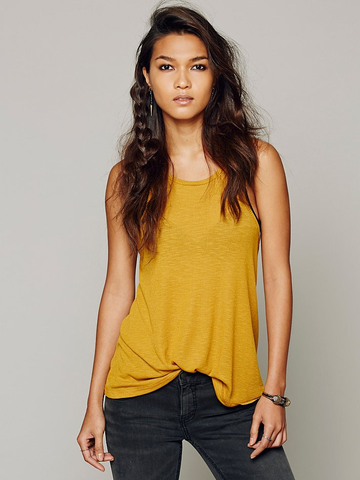 New-Free-People-La-Nite-Tank-Top-Boho-Ribbed-Loose-Cotton-Cami-Womens-Xs-L-20 thumbnail 3