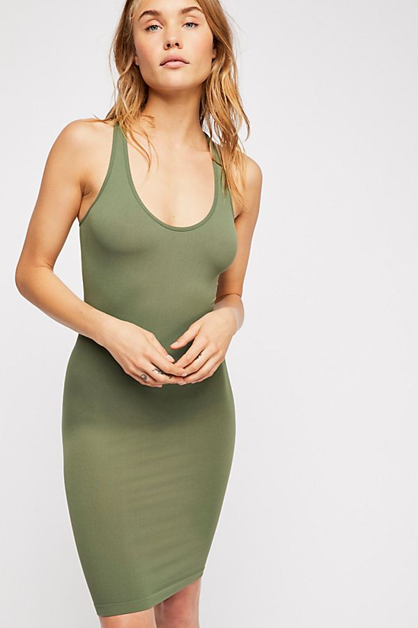 New-Free-People-Seamless-Racerback-Slip-Bodycon-Nylon-Dress-Womens-Xs-L-34 thumbnail 10