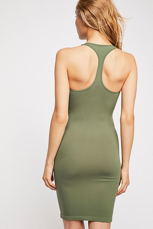 New-Free-People-Seamless-Racerback-Slip-Bodycon-Nylon-Dress-Womens-Xs-L-34 thumbnail 9
