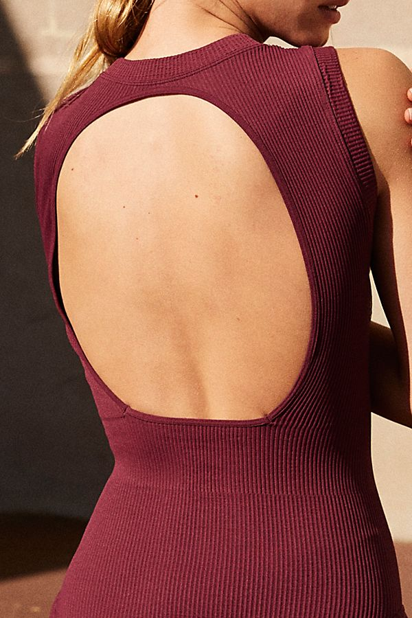 New-Free-People-Movement-Seamless-Open-Back-Jumpsuit-Bodysuit-One-Piece-Xs-L-58 thumbnail 8