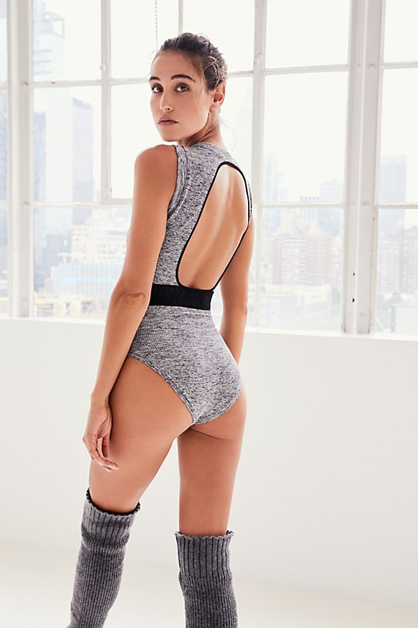 Free People Womens About The Back Bodysuit Jumpsuit