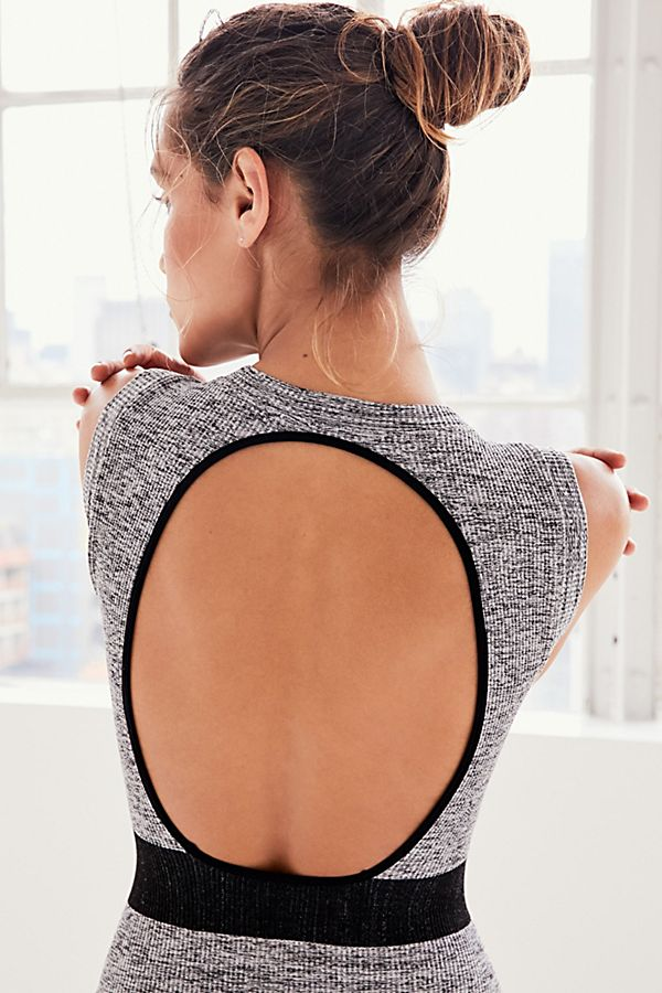 New-Free-People-Movement-Seamless-Open-Back-Jumpsuit-Bodysuit-One-Piece-Xs-L-58 thumbnail 12