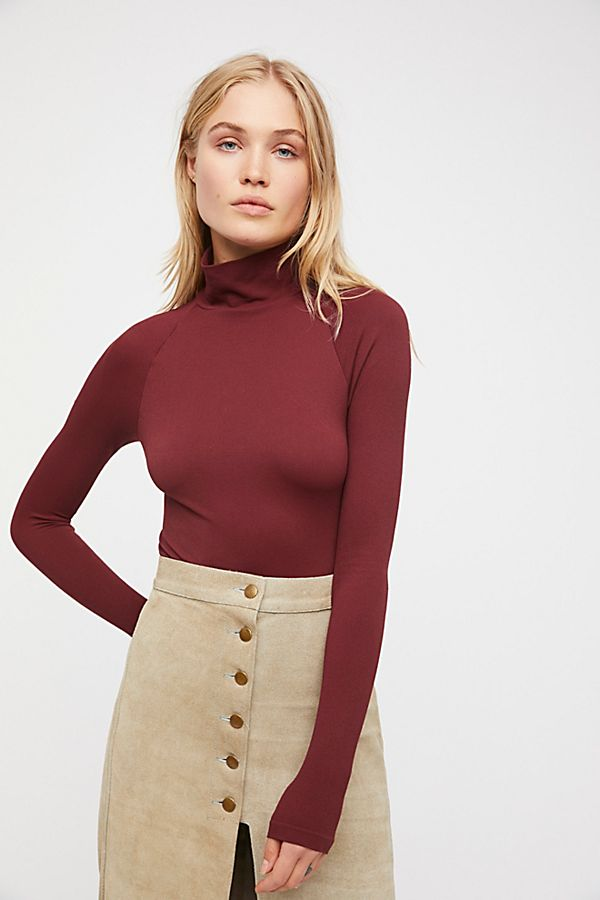 New-Free-People-Intimate-Seamless-Turtleneck-Bodysuit-Long-Sleeve-Top-Xs-L-48 thumbnail 12