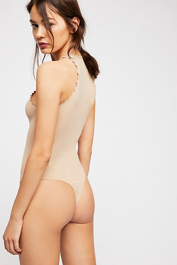 New-Free-People-Womens-Seamless-Mock-Neck-One-Piece-Feels-Right-Bodysuit-40 thumbnail 12