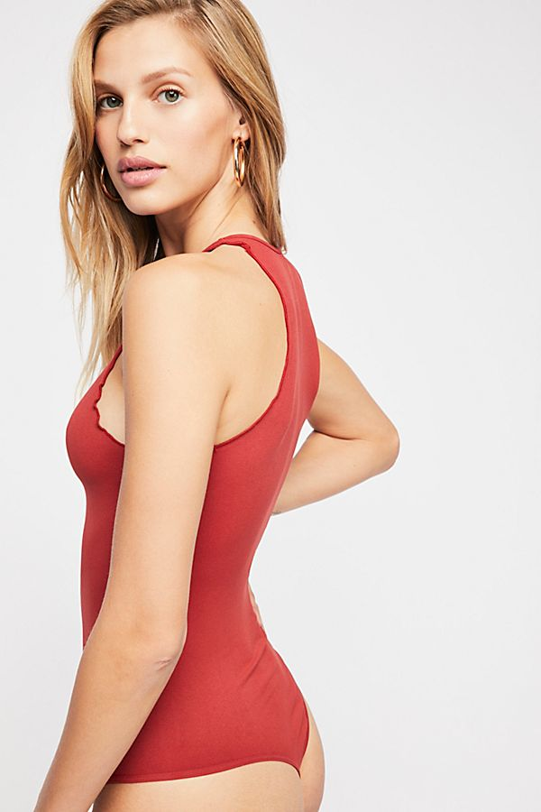 New-Free-People-Womens-Seamless-Mock-Neck-One-Piece-Feels-Right-Bodysuit-40 thumbnail 5