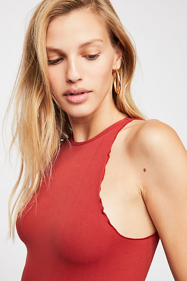 New-Free-People-Womens-Seamless-Mock-Neck-One-Piece-Feels-Right-Bodysuit-40 thumbnail 4