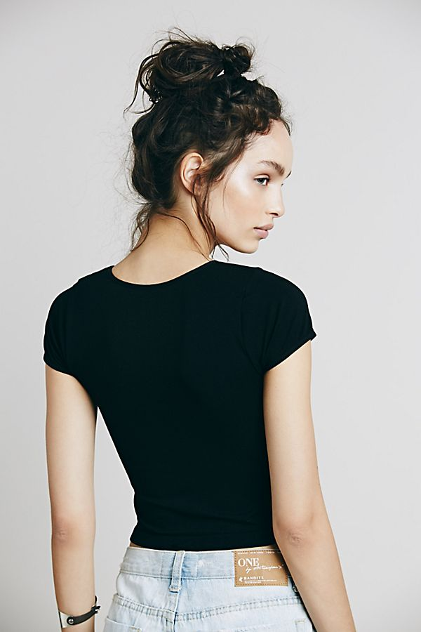 Free-People-Intimate-Cap-Sleeve-Seamless-Cami-Simple-Solid-Crop-Top-Colors-Xs-L thumbnail 11