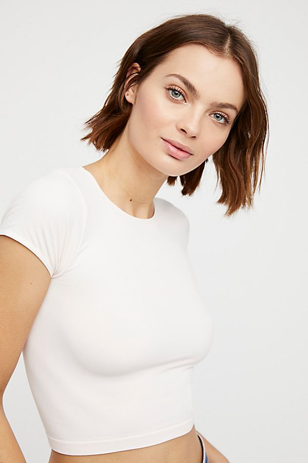 Free-People-Intimate-Cap-Sleeve-Seamless-Cami-Simple-Solid-Crop-Top-Colors-Xs-L thumbnail 22