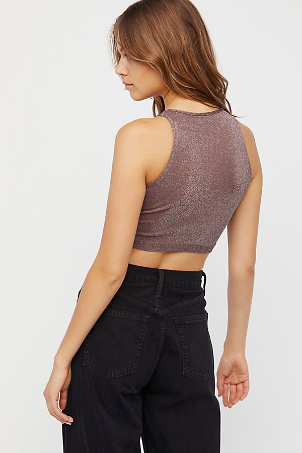 New-Free-People-Womens-Seamless-Sleeveless-Simple-High-Neck-Crop-Top-Xs-L-20 thumbnail 8