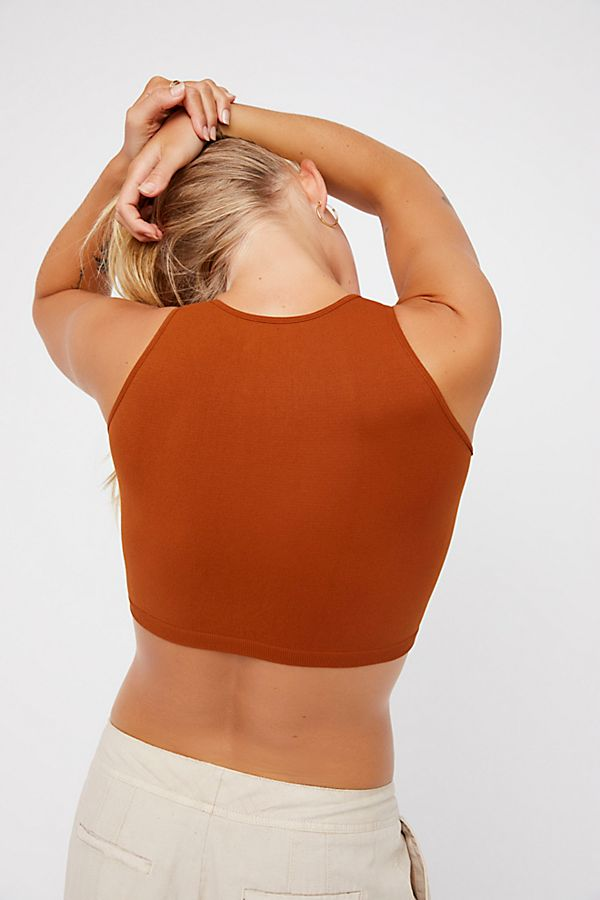New-Free-People-Womens-Seamless-Sleeveless-Simple-High-Neck-Crop-Top-Xs-L-20 thumbnail 13