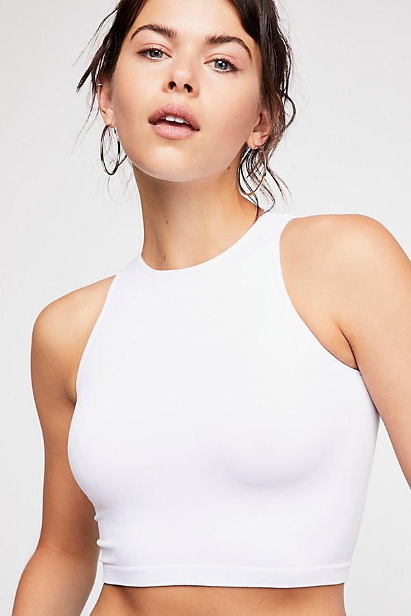 New-Free-People-Womens-Seamless-Sleeveless-Simple-High-Neck-Crop-Top-Xs-L-20 thumbnail 4