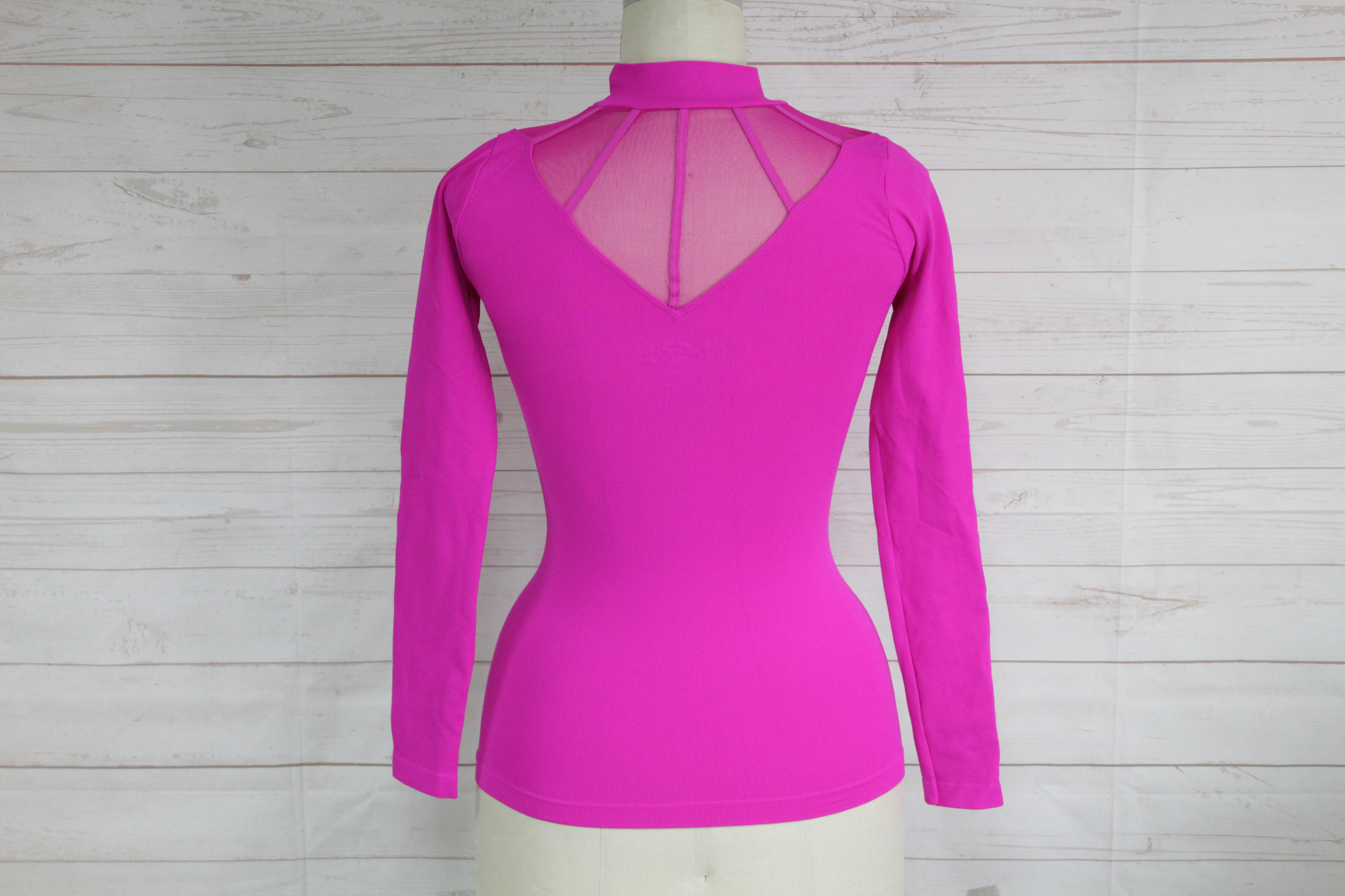 New Free People Womens Purple Seamless Ribbed Long Sleeve Low Open Back Top $48