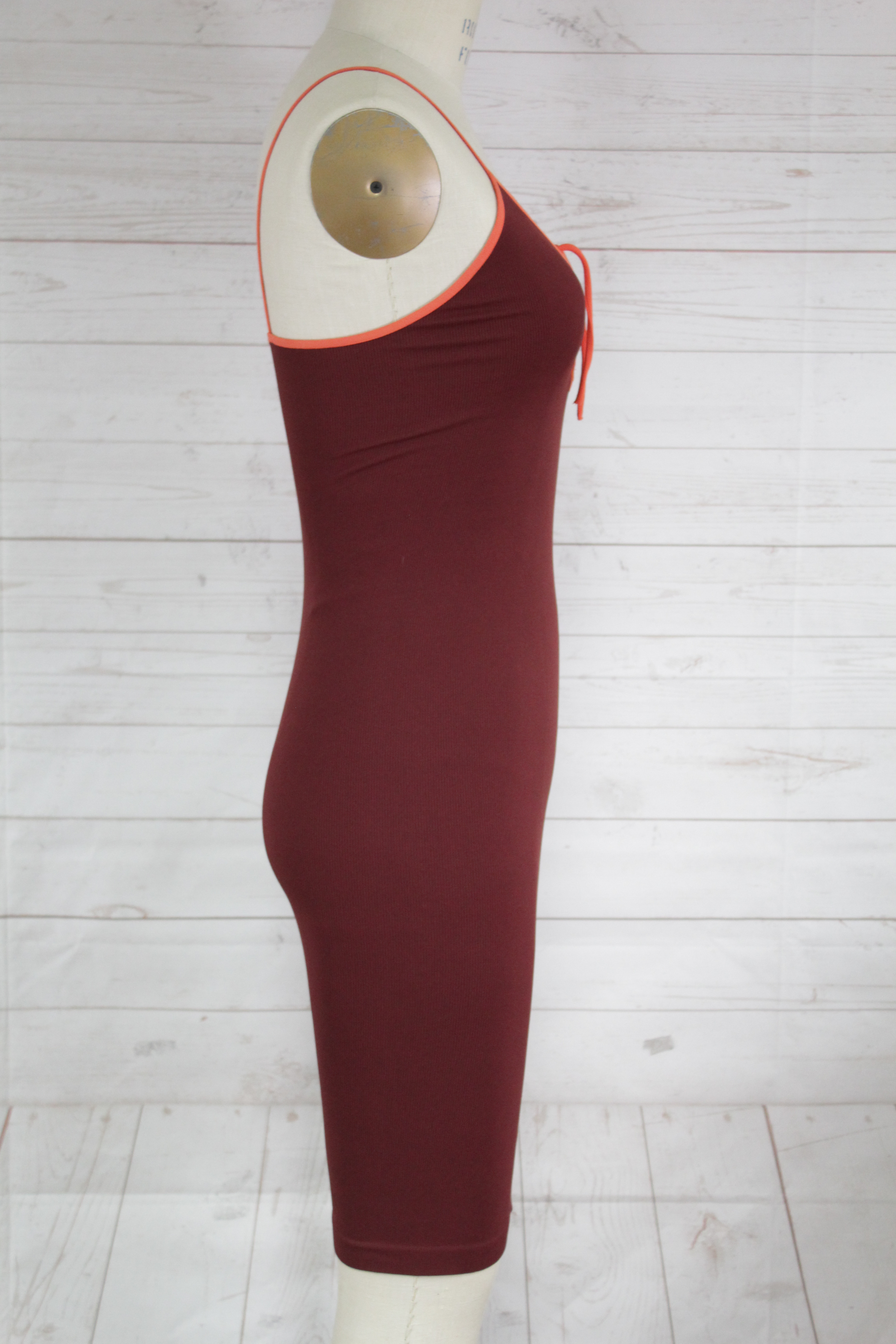 New-Free-People-Intimate-Seamless-Ribbed-Strappy-V-Neck-Bodycon-Slip-Dress-Xs-S thumbnail 3
