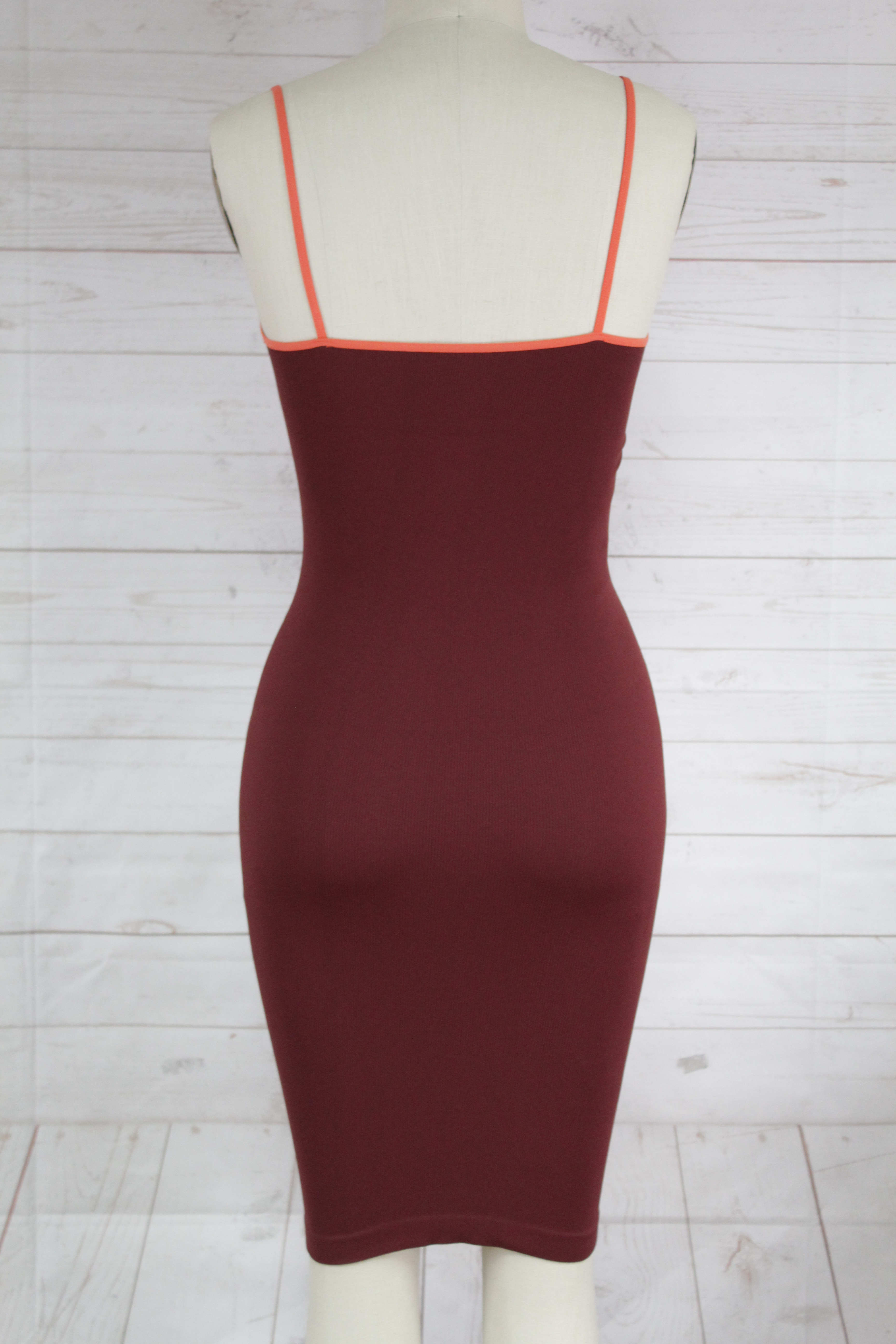 New-Free-People-Intimate-Seamless-Ribbed-Strappy-V-Neck-Bodycon-Slip-Dress-Xs-S thumbnail 4