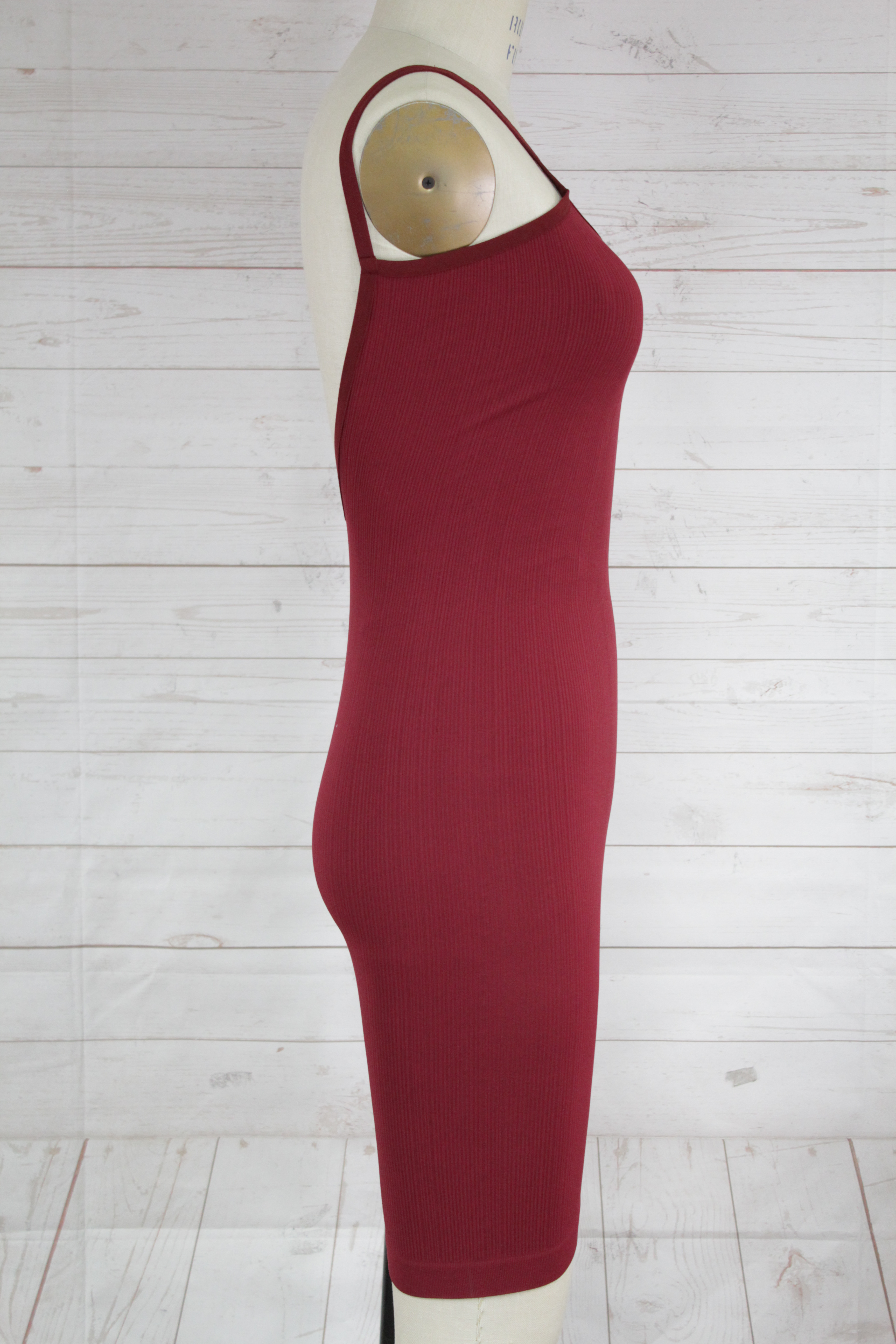 New-Free-People-Womens-Intimate-Seamless-Ribbed-Bodycon-Mini-Slip-Dress-Red-Xs-S thumbnail 3