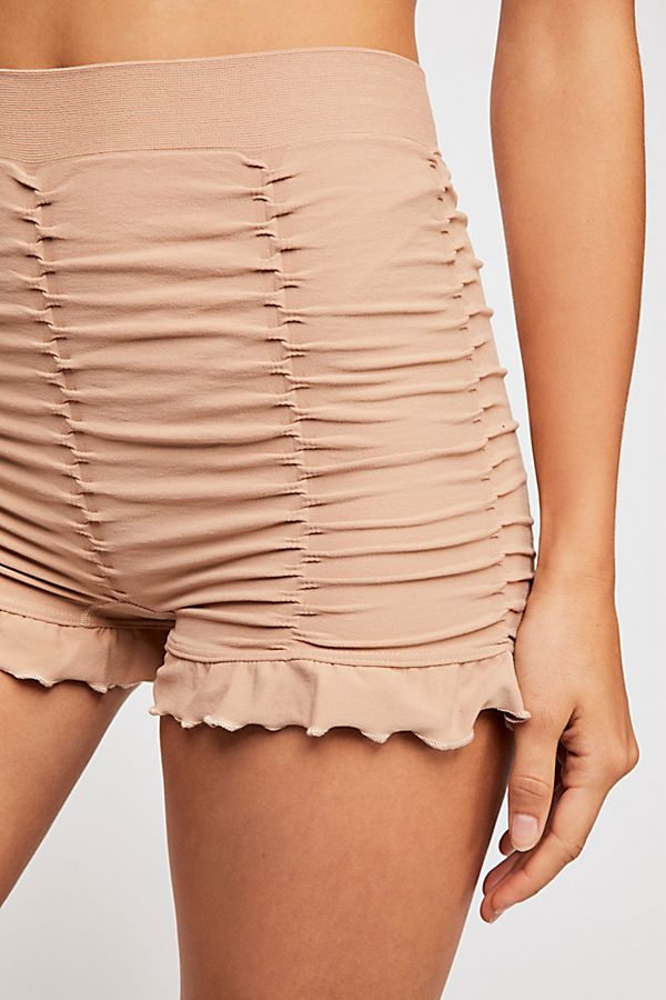 Details about  /Free People Intimate Sleep /& Lounge Bottoms Nylon Ruched Seamless Boy Shorts $38