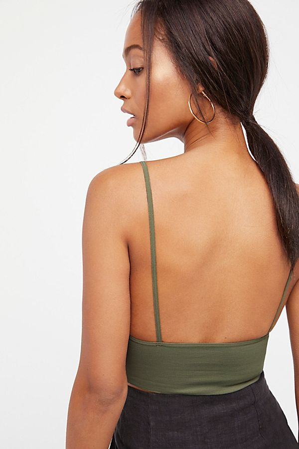 New-Free-People-Womens-Seamless-Stretchy-Ribbed-Ali-Low-Back-Bra-Xs-L-30 thumbnail 23