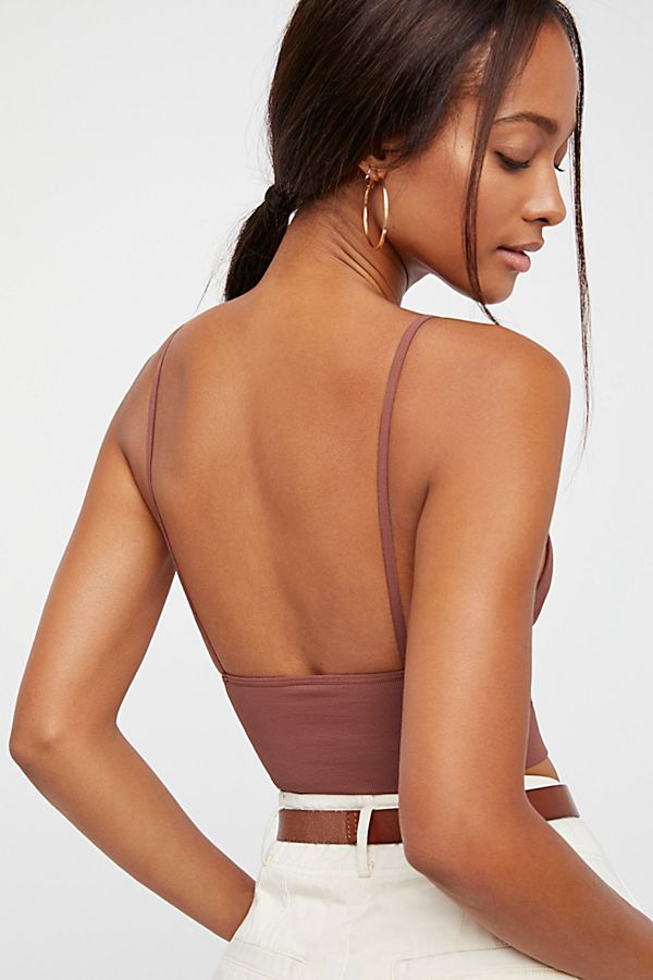 New-Free-People-Womens-Seamless-Stretchy-Ribbed-Ali-Low-Back-Bra-Xs-L-30 thumbnail 14