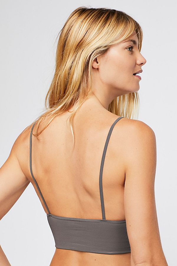 New-Free-People-Womens-Seamless-Stretchy-Ribbed-Ali-Low-Back-Bra-Xs-L-30 thumbnail 10
