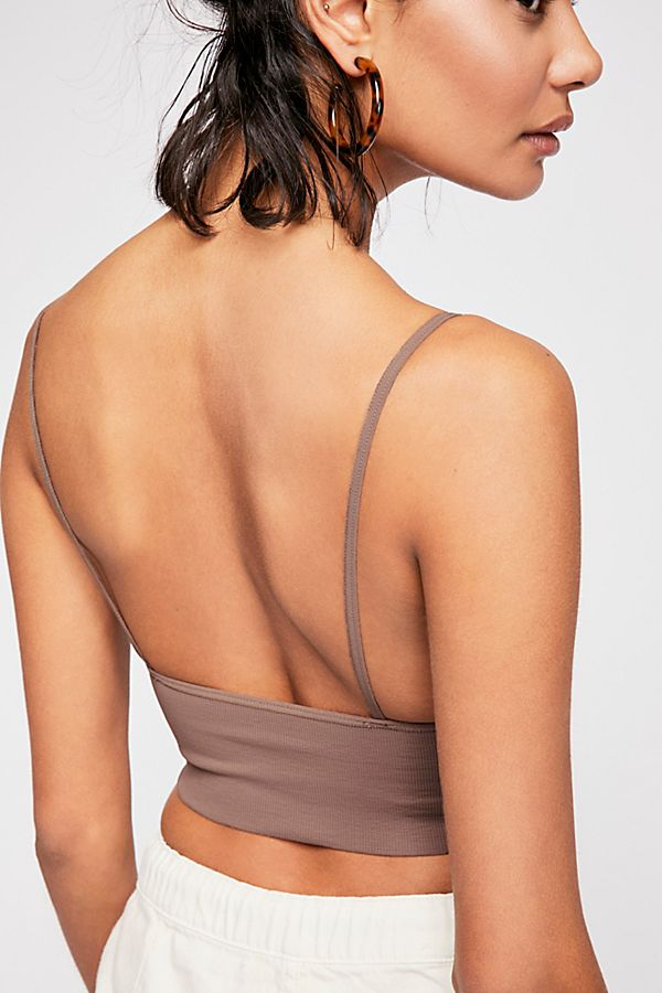 New-Free-People-Womens-Seamless-Stretchy-Ribbed-Ali-Low-Back-Bra-Xs-L-30 thumbnail 4