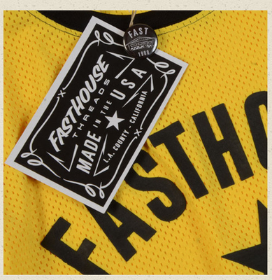 FASTHOUSE MOTO CREW JERSEY - YELLOW