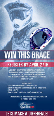 Join Leatt in supporting Wings For Life World Run.