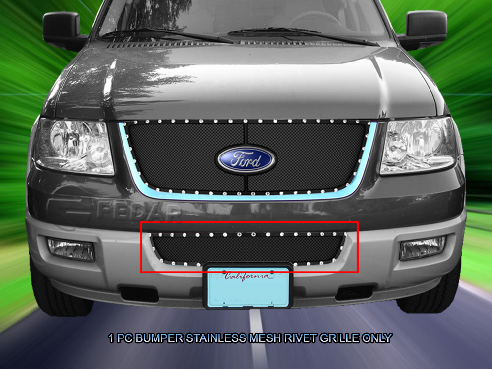 fedar black bumper rivet mesh grille for ford expedition. Black Bedroom Furniture Sets. Home Design Ideas