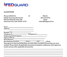 FEDGuard Claims Form