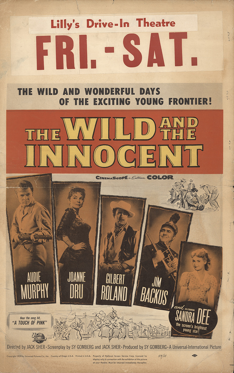 My Mountaineer Card >> The Wild and the Innocent 1959 Original Movie Poster ...