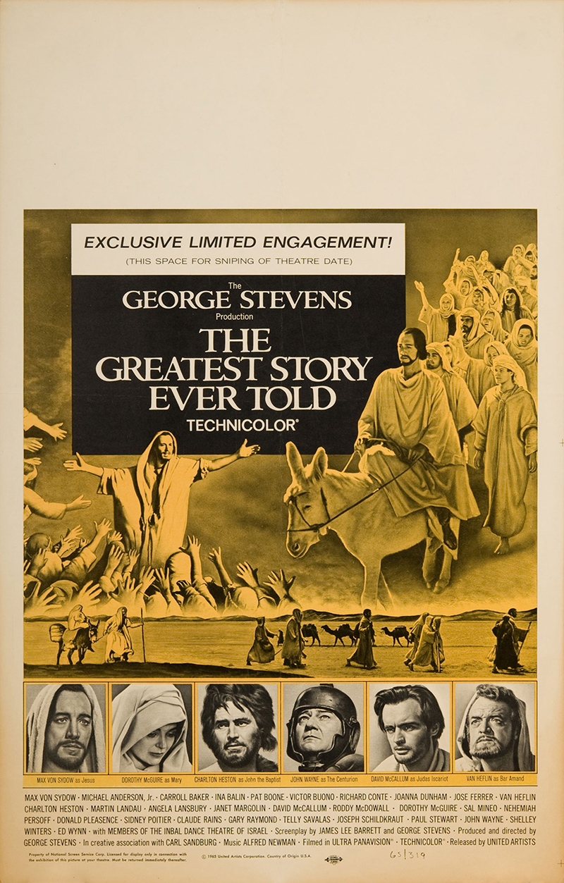 The Greatest Story Ever Told 1965 Original Movie Poster ...