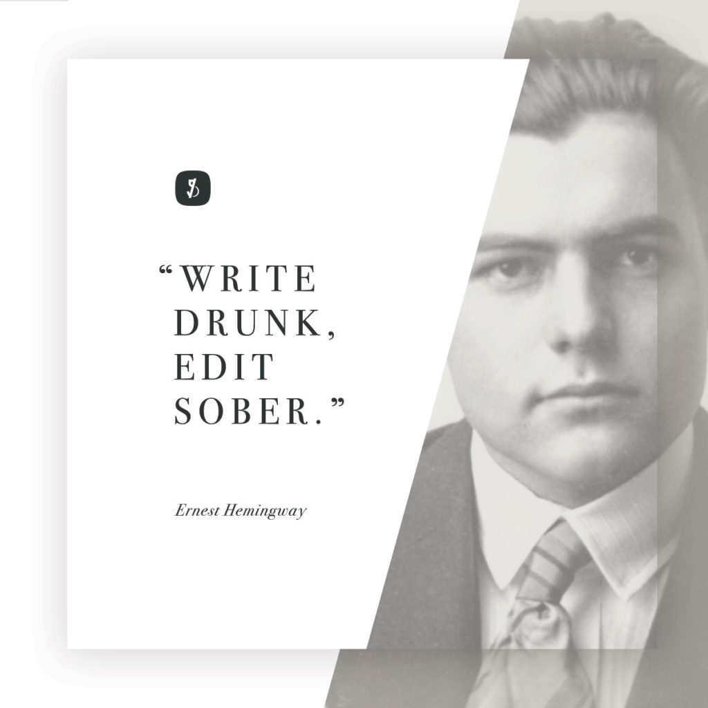 Hemingway quote about writing