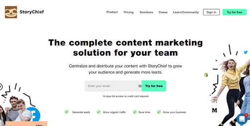 StoryChief – for copy creation